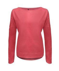Różowa bluzka z długim rękawem