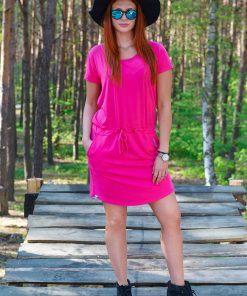 Różowa sukienka dla kobiet