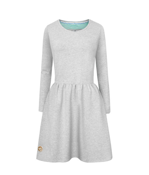 Evokaii Women Surf Dress Kickflip Grey Front