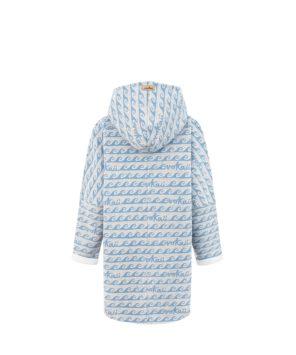 Damska bluza oversize typu kangu w fale - tył