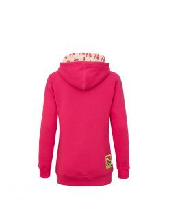 Różowa bluza z kapturem - tył