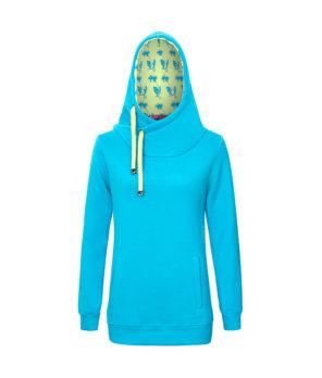 Niebieska bluza z kapturem - przód