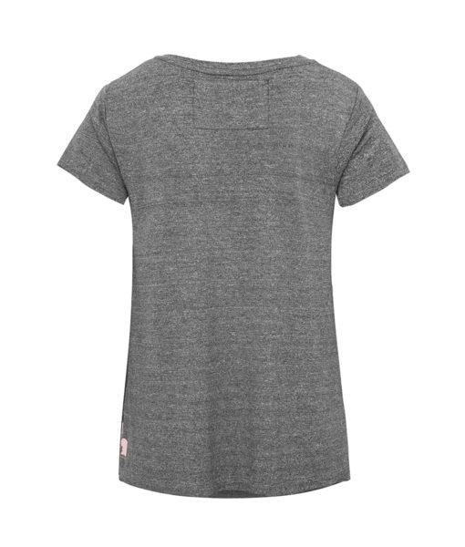Szary t-shirt damski - tył