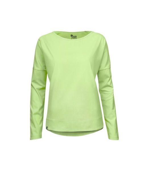 Evokaii Women Surf Style KiteGirl Tshirt Green Front