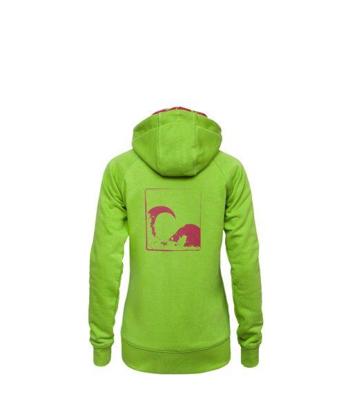 Młodzieżowa, rozpinana bluza - zielony