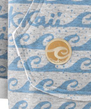 Damska bluza oversize typu kangu w fale - znaczek Evokaii