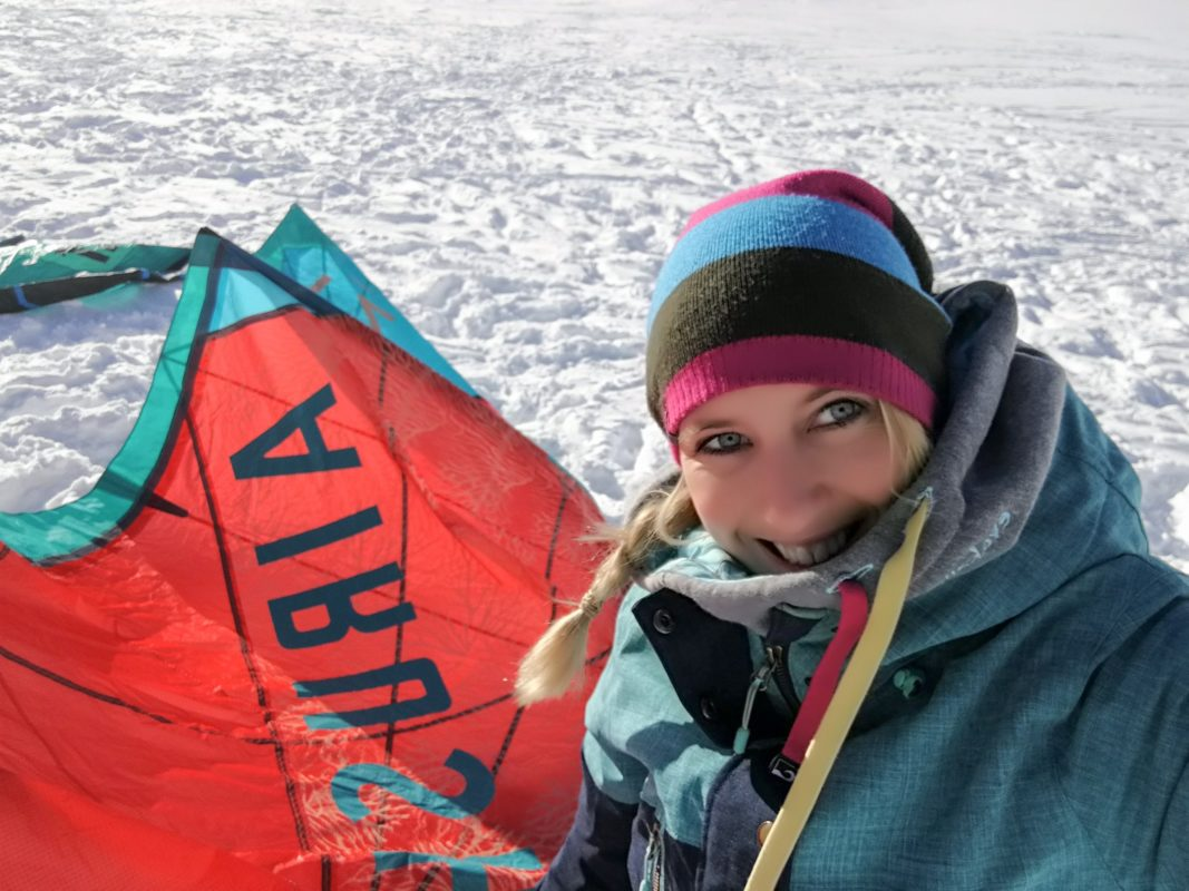 Snow Kiting on Bernina Pass