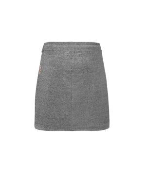 Krótka spódnica z tkaniny bambusowej - tył