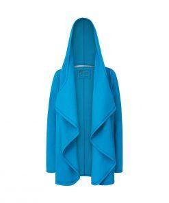 Aloha: Damski niebieski płaszcz