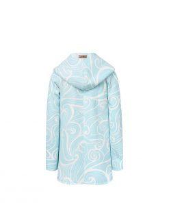Evokaii Girls Surf Coat Aloha Short Coat Waves Back