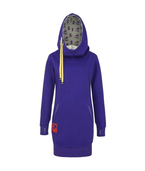 Evokaii Women Surf Style Long Tailed Hoodie - Freestyle Purple Front