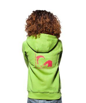 Rozpinana, zielona bluza dla kobiet
