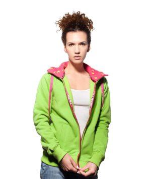 Rozpinana, zielona bluza dla dziewczyn