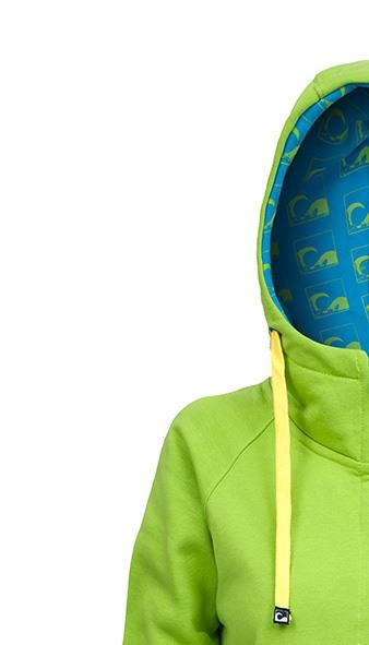 Kitesurf Hoodie Green Front