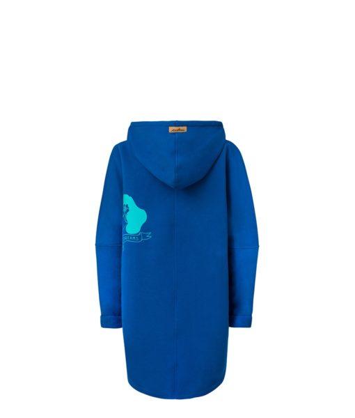 Niebieska bluza kangurka - tył