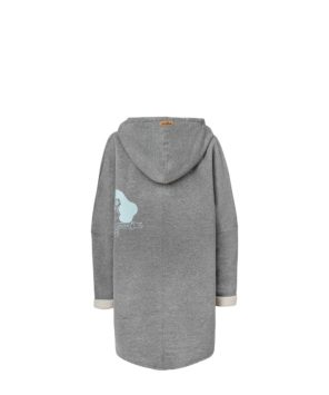 Oversized Hoodie with Kangoo Pockets - Grey Back Picture