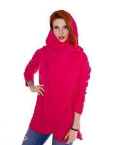 Damski płaszcz - różowy