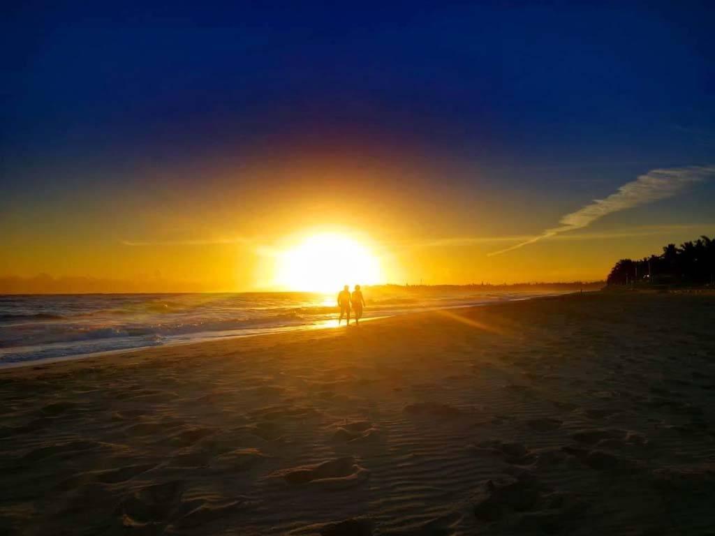 Caribbean Sunset Over Beach Kitesurf Dominican Republic