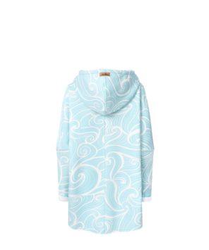 Bluza w fale z kapturem - tył