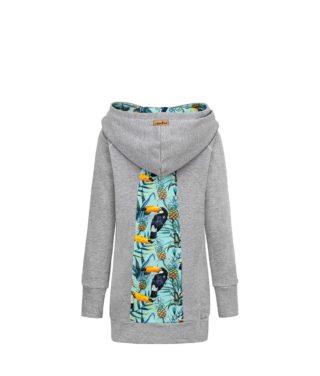 Szara bluza: Candy Long Toucan - tył