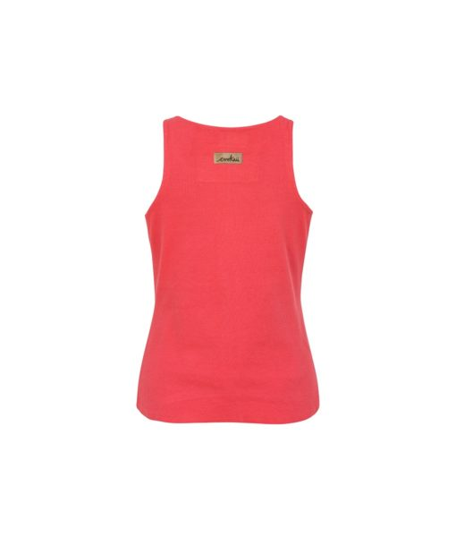 Cotton Tank Top Back Red Colour