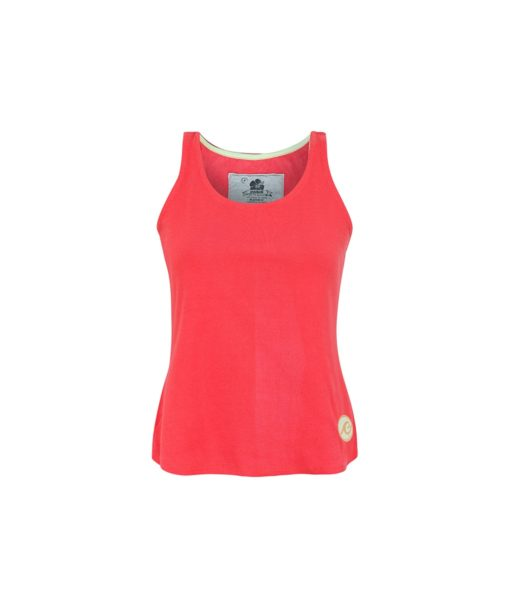 Cotton Tank Top Front Red Colour