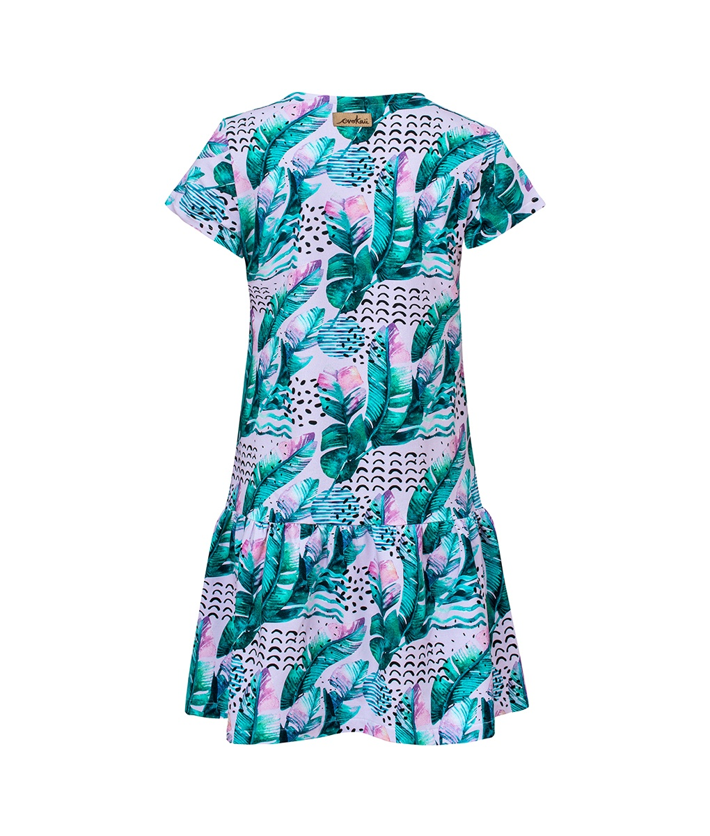Letnia sukienka z piórami - tył