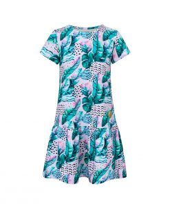 Letnia sukienka z piórami - przód