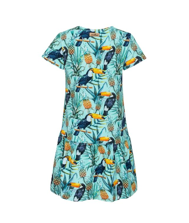 Sukienka z tukanami - tył