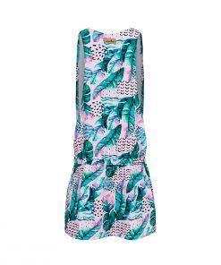 Różowa sukienka bez rękawów - tył