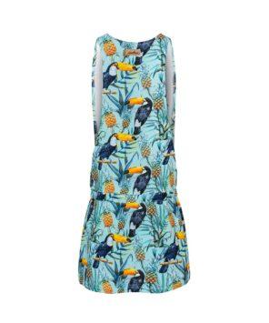 Letnia sukienka z tukanami - tył