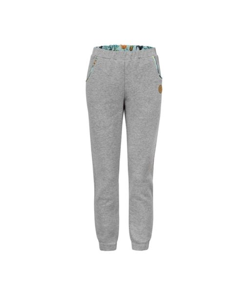 Comfortable Grey Surf Sweatpants Front With Toucan Print Inside
