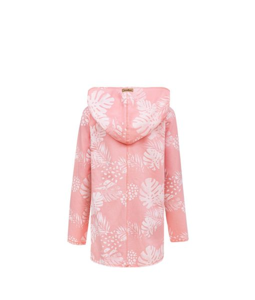 Evokaii Girls Aloha Women Surf Coat Coral Dreams Pink Back
