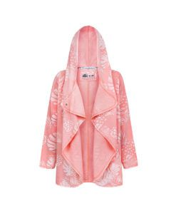 Evokaii Girls Surf Aloha Women Surf Coat Coral Dreams Pink Front