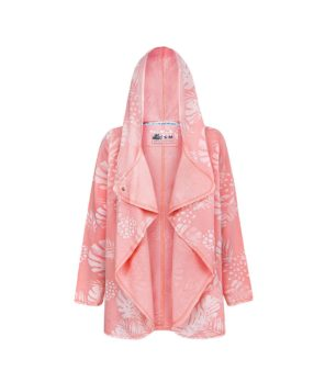 Evokaii Girls Aloha Women Surf Coat Coral Dreams Pink Open