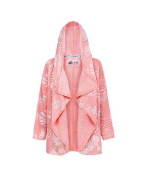 Evokaii Girls Aloha Women Surf Coat Coral Dreams Pink Open