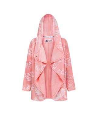 Evokaii Girls Surf Aloha Women Surf Coat Coral Dreams Pink Front
