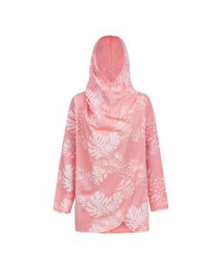 Evokaii Girls Aloha Women Surf Coat Coral Dreams Pink Buttoned Up