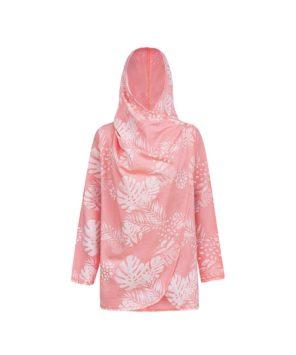 Evokaii Girls Aloha Women Surf Coat Coral Dreams Pink Buttoned Up