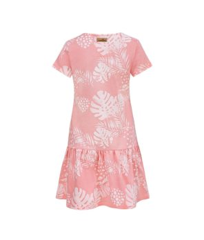 Women Surf Dress Pink Flowers Summer Dress Back