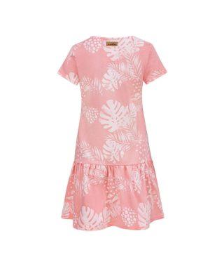 Women Surf Dress Pink Flowers Summer Dress Back