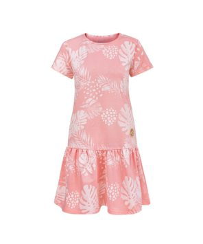 Women Surf Dress Pink Flowers Summer Dress Front