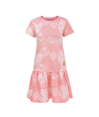Women Surf Dress Pink Flowers Summer Dress Front