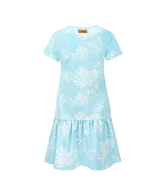 Women Surf Dress Mint Flowers Summer Dress Back