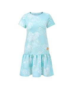 Women Surf Dress Mint Flowers Summer Dress Front