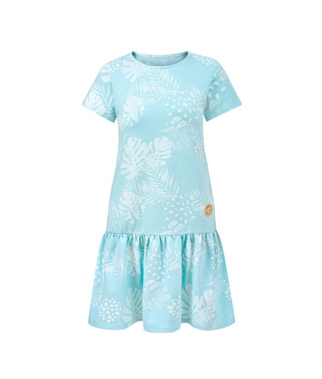 Women Surf Dress Mint Flowers Summer Dress Front