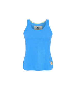 Surf Girl Tank Top Blue Front Bamboo Eco Friendly Women Tank Top
