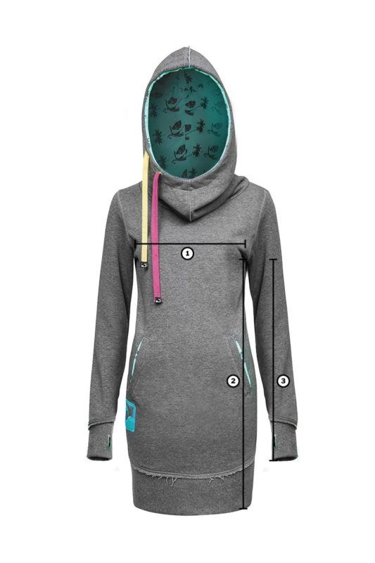 Freestyle Surf Hoodie in Grey with Kitesurf Inprinted in Hoodie, featuring upcycled Kitesurf Wave Surf Logo on the Side