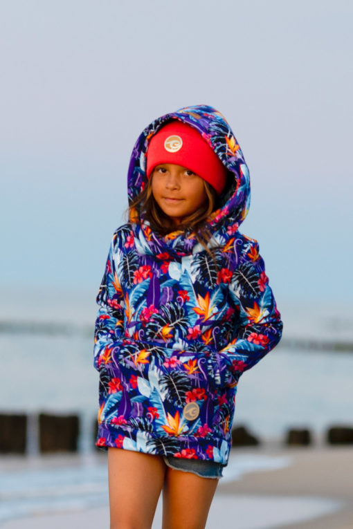 Tropical Flower Hoodie Beach Kids