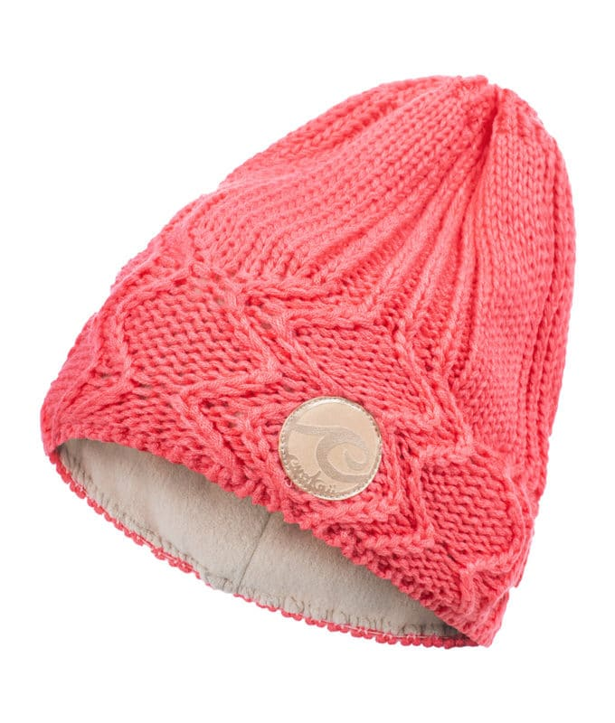 Evokaii Knitted Surf Beanie Salmon Colour